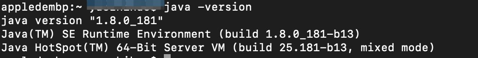 Mac配置完Java环境后提示No Java runtime present, requesting install.